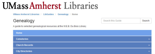 Genealogy by the University of Massachusetts, Amherst, Libraries