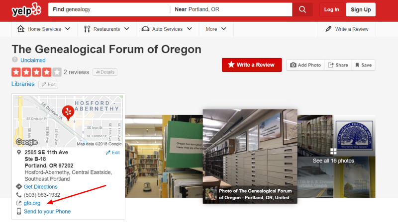 Genealogical-forum-oregon