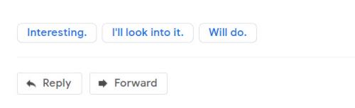Gmail responses