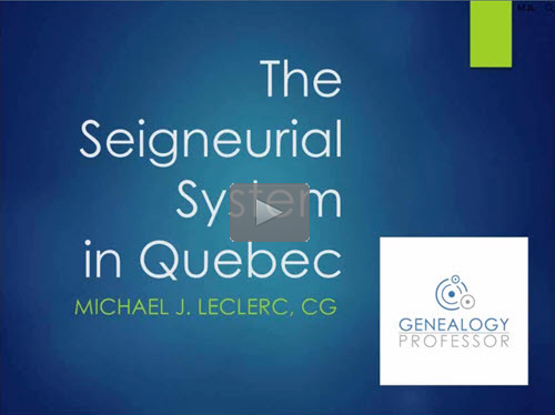Understanding the Seigneurial System of Land