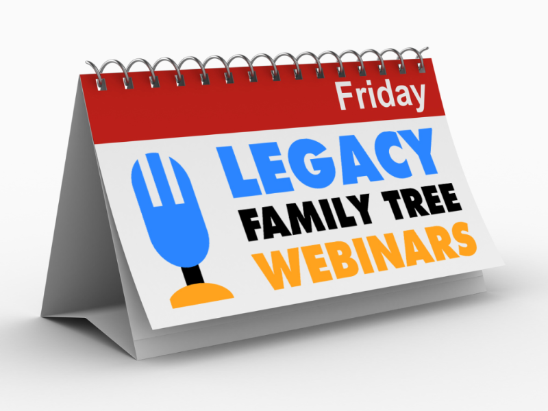 "New ""Member Friday"" Webinar - Organizing (or Reorganizing!) That Family Reunion by James Beidler"