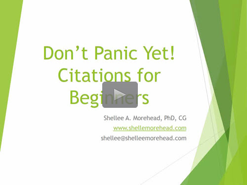 Citation for Beginners
