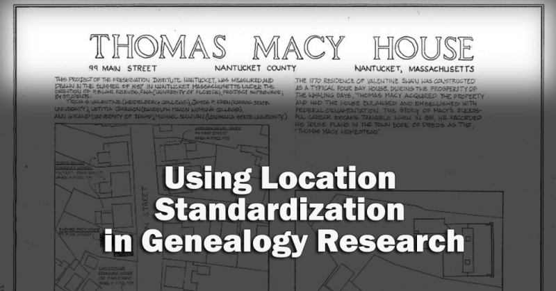Locationstandardization