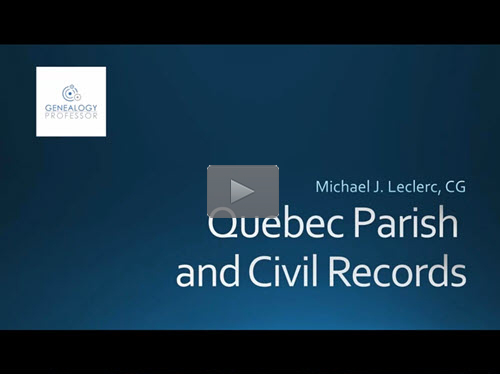 Quebec Civil and Parish Registers