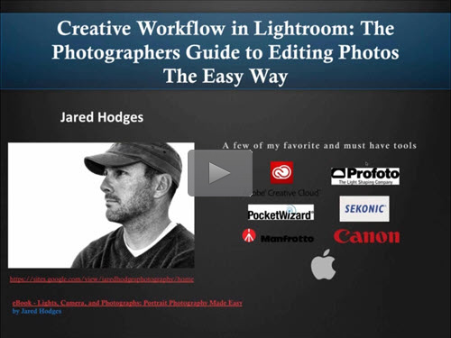 "Creative Workflow in Lightroom: The Photographers Guide to Editing Photos The Easy Way"" by Jared Hodges"