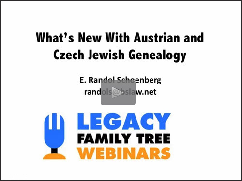 What's New in Austrian and Czech Jewish Genealogy