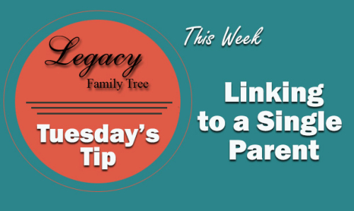 TT - Linking to a Single Parent