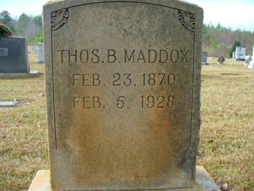 Thomas Maddox (1870-1928) gravestone