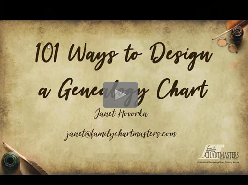 101 Ways to Design a Genealogy Chart - free webinar by Janet Hovorka now online for limited time
