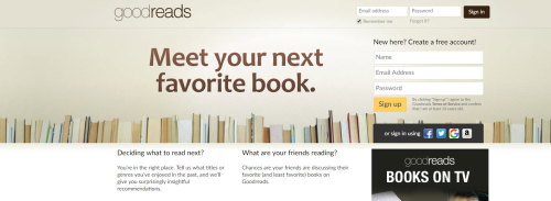 Goodreads website
