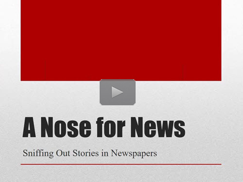 "New ""Member Friday"" Webinar - A Nose for News: 20+ Tips for Getting the Most Out of Newspapers by Mary Kircher Roddy"