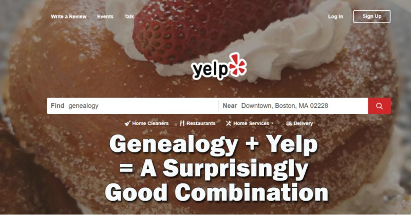 Genealogy + Yelp = A Surprisingly Good Combination