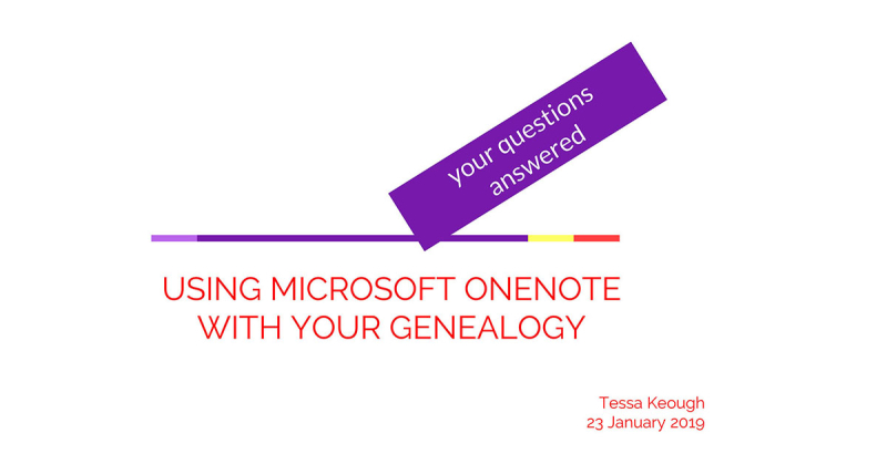 Using OneNote with Genealogy