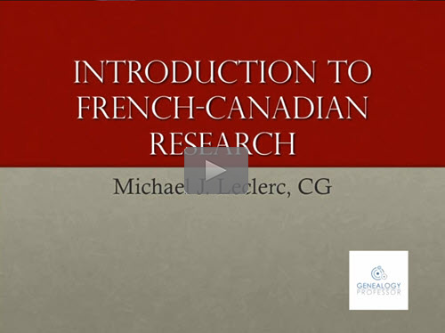 Introduction to French-Canadian Research
