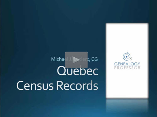 Quebec Census Records