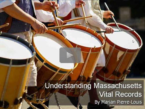 Understanding Massachusetts Vital Records by Marian Pierre-Louis