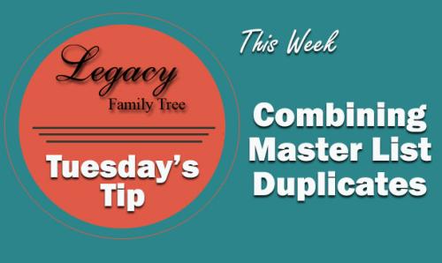 TT - Combining Master Source Duplicates