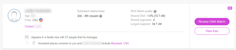 MyHeritage DNA Match