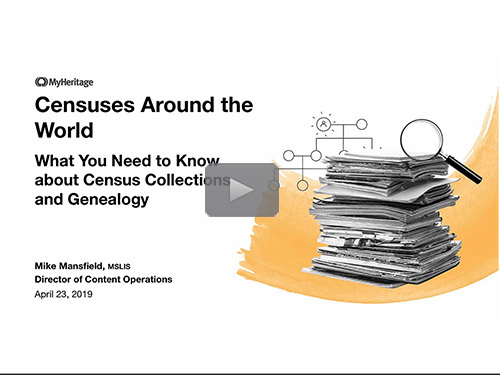 What You Need to Know About Census Collections and Genealogy - free webinar by Mike Mansfield now online