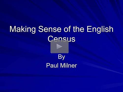 Making Sense of the English Census by Paul Milner
