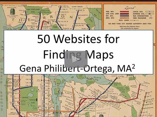 50 Websites for Finding Maps by Gena Philibert-Ortega