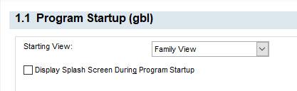 1.1 Program Startup (gbl)