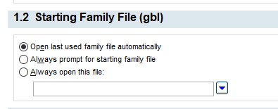 1.2 Starting Family File (gbl)