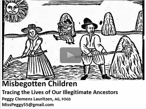 Misbegotten Children: Tracing the Family Lines of the Illegitimate by Peggy Lauritzen