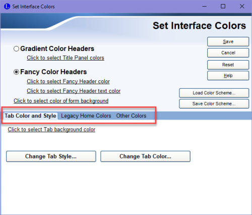 Set Interface Colors