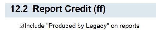 12.2 Report Credit