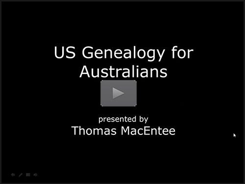 US Genealogy for Australians by Thomas MacEntee
