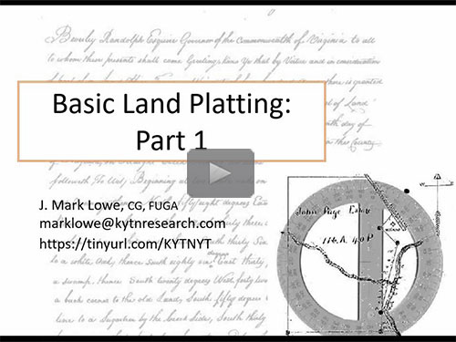 Basics of Land Platting - Part 1 - free webinar by J. Mark Lowe now online for limited time