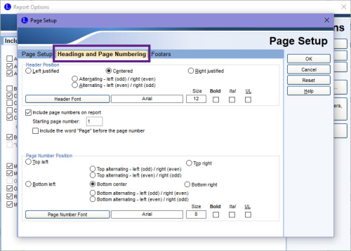 Headings and Page Numbering