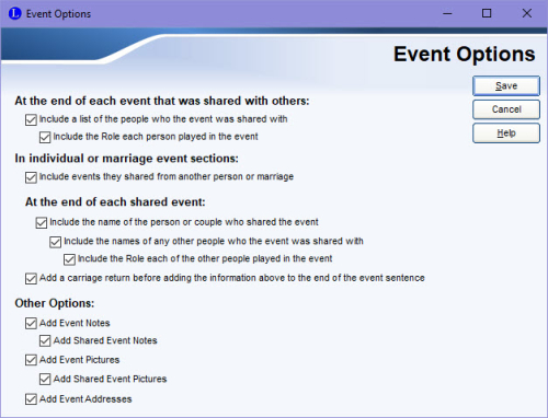 Event Options