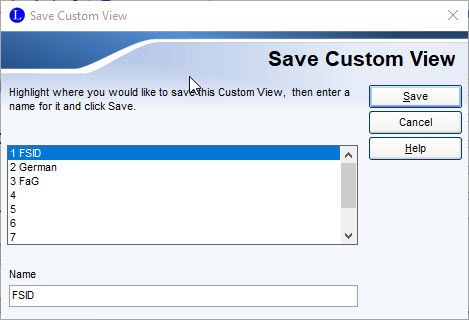 Save Custom View