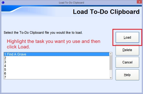 Load To-Do Clipboard