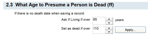 2.3 What Age to Presume a Person is Dead (ff)