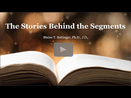 The Stories Behind the Segments - free webinar by Blaine Bettinger now online for limited time
