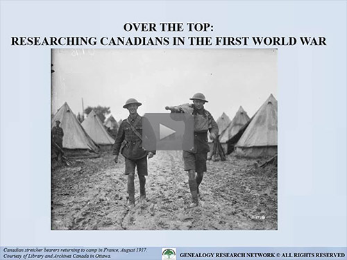 Over the Top: Researching Canadians in the First World War by Michael L. Strauss, AG