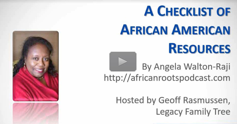A Checklist of African American Resources by Angela Walton-Raji