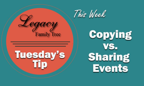 TT - Copying vs. Sharing Events