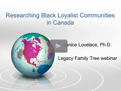 Researching Black Loyalist Communities in Canada