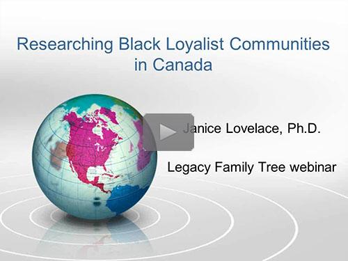 Researching Black Loyalist Communities in Canada