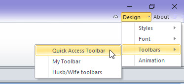 Edit the Quick Access Toolbar