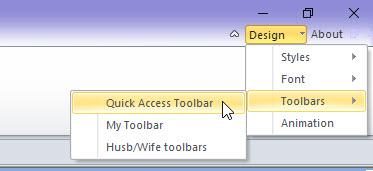 Edit the Quick Access Toolbar