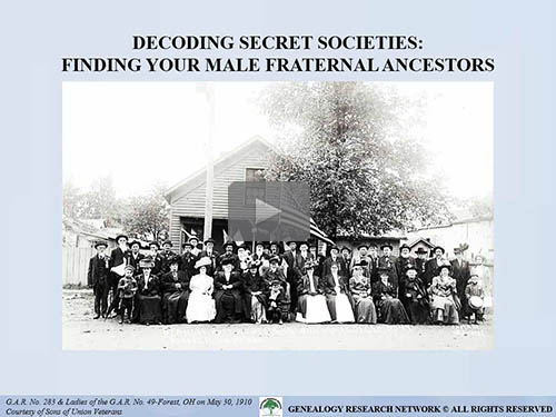 Decoding Secret Societies: Finding Your Male Fraternal Ancestors by Michael L. Strauss, AG