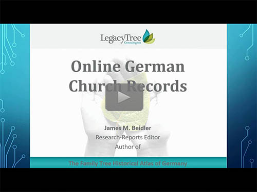 Online German Church Registers, Duplicates and Substitutes by James M. Beidler