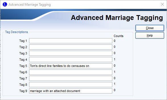 Advanced Marriage Tagging