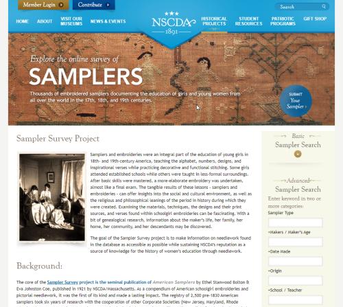 Sampler homepage