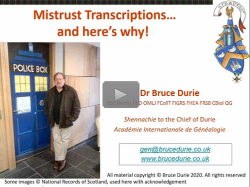 Mistrust Transcriptions: And Here's Why - free webinar by Dr. Bruce Durie now online for limited time